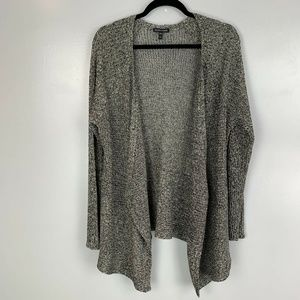 Eileen Fisher Open Knit Linen Wool Blend Cardigan